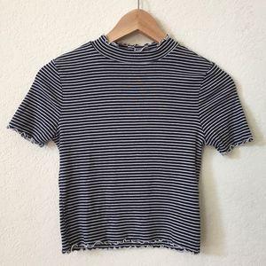 Cropped Striped Shirt